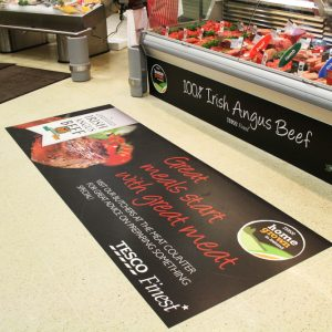Floor graphics create brand awareness