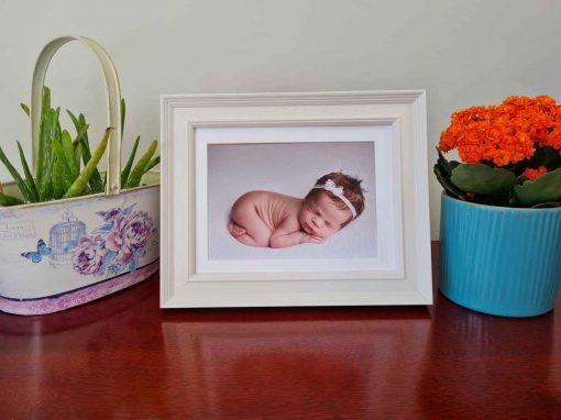 Tivoli Vellum Baby Framed picture