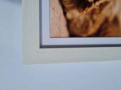 Modern box frame white closeup