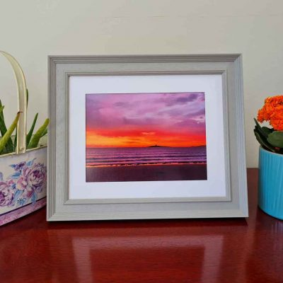 Tivoli Grey Skerries Colt Sunrise Picture framed