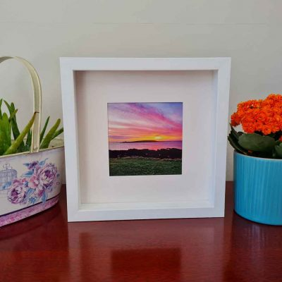 Skerries sunrise shenick square framed picture