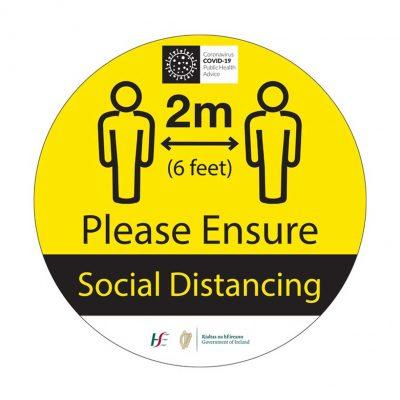 Covid Social Distancing Floor Graphic