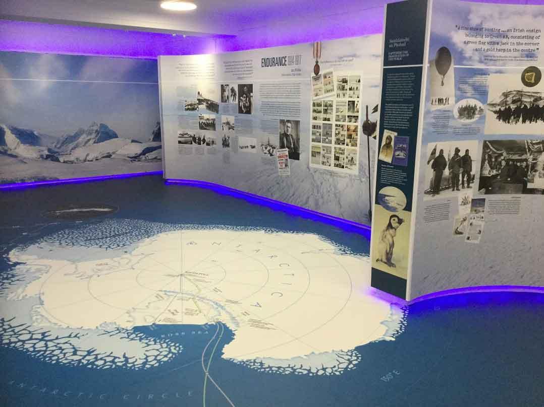 Kerry Museum Tom Crean Antarctica Room Graphic Display