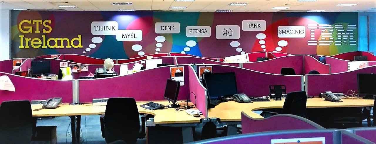 IBM GTS Ireland office wall display