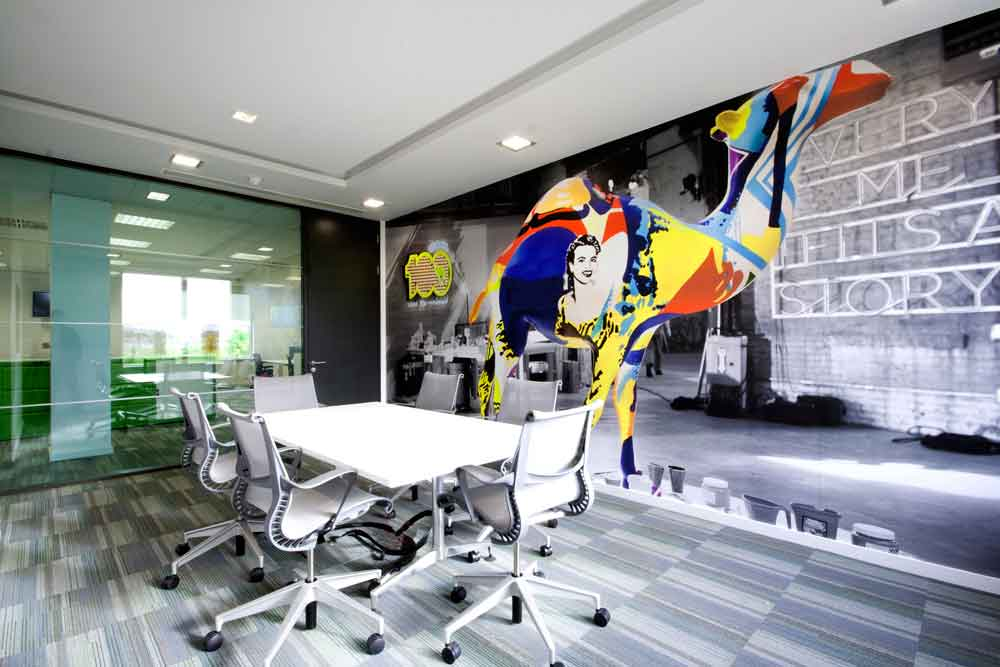 Large Funky Office Wall Vinyl fit out