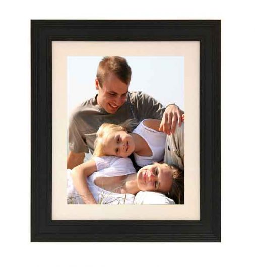 Tivoli Picture Frame Black colour with family image