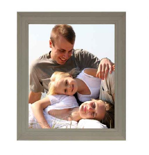 Tivoli Picture Frame Grey colour with family image no mount
