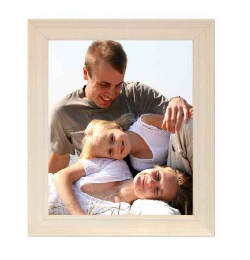 Tivoli Picture Frame Vellum colour with family image no mount