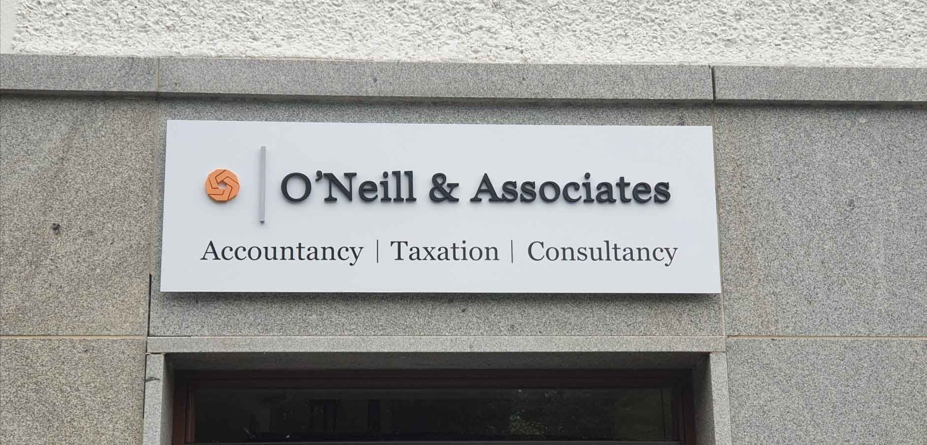 Sean O'Neill and Associates outdoor business sign