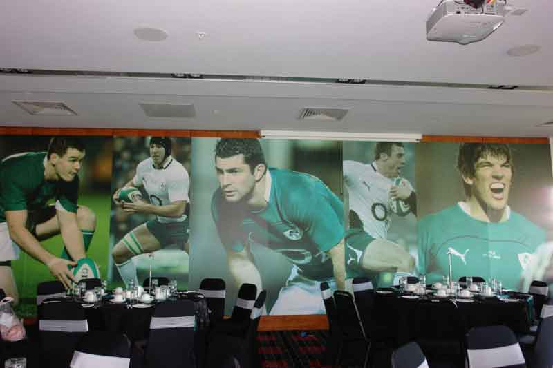 IRFU Conference Room Rugby Player Display Wall