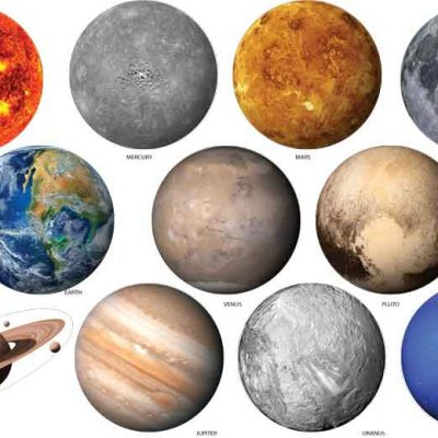Solar system planets large vinyl wall stickers